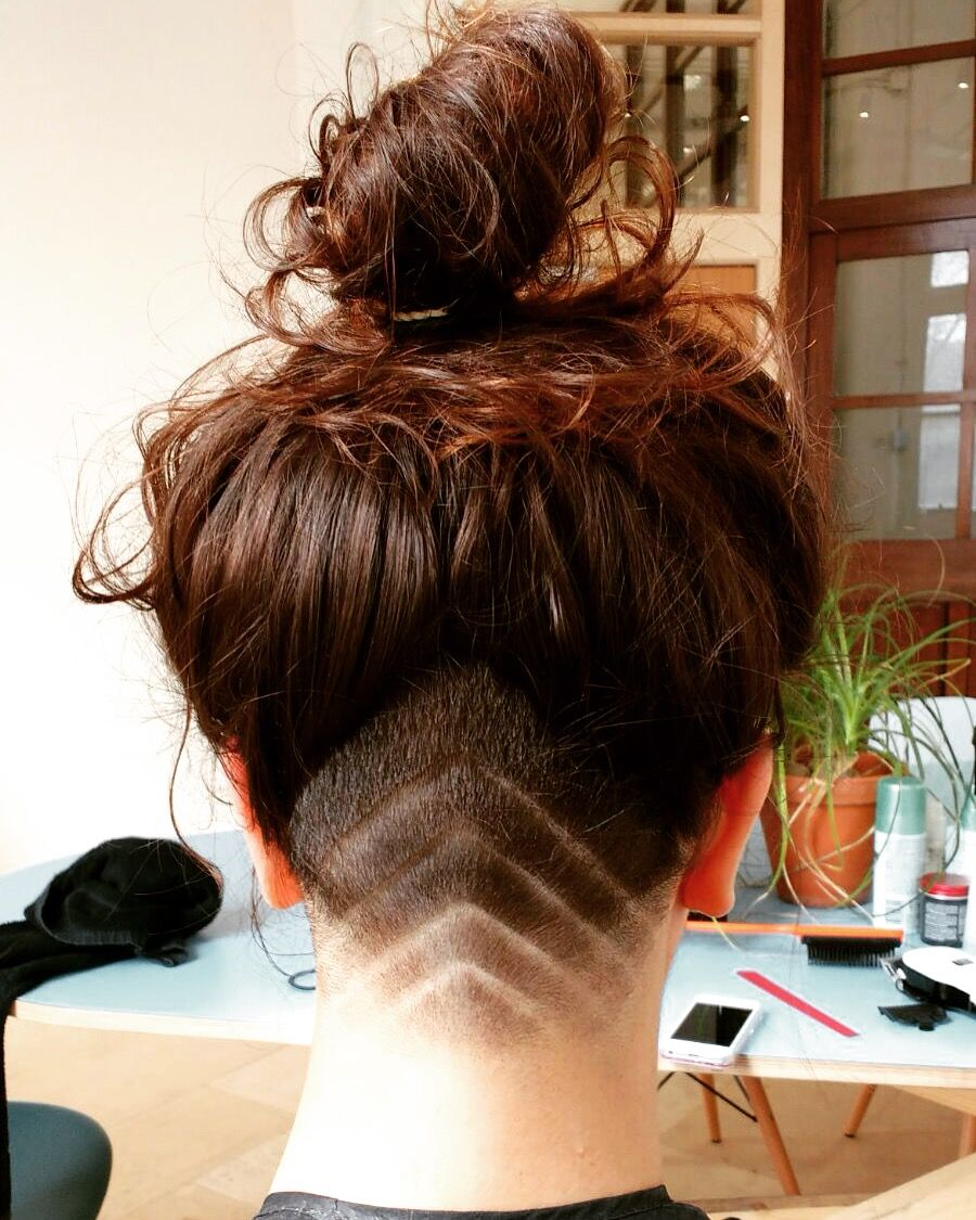 geometric undercut pattern - zig