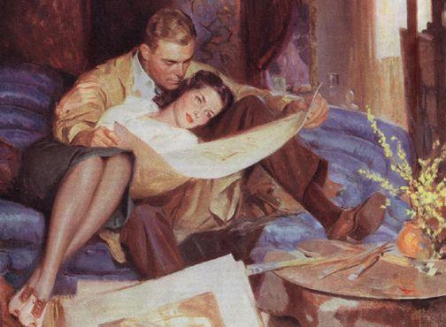 Tom Lovell Romance Art Romantic Art Retro Art