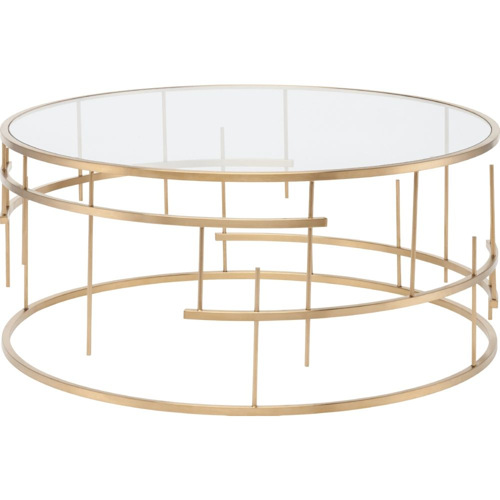 Round Gold Gl Coffee Table Modern Luxury Furniture Check More At Http Www Nikkitsfun