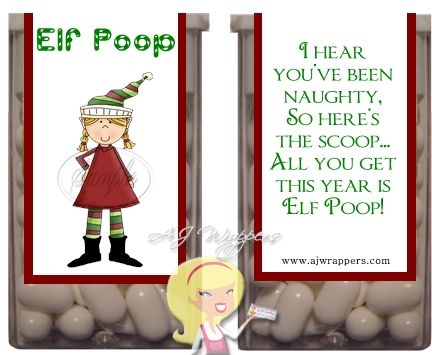 Elf Poop Tic Tac Wrapper AJ Wrappers~ Christmas Christmas candy