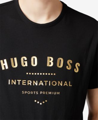 7e0bc389e10fc1 Boss Men's Graphic Cotton T-Shirt - Red S | Products | Shirts, T ...