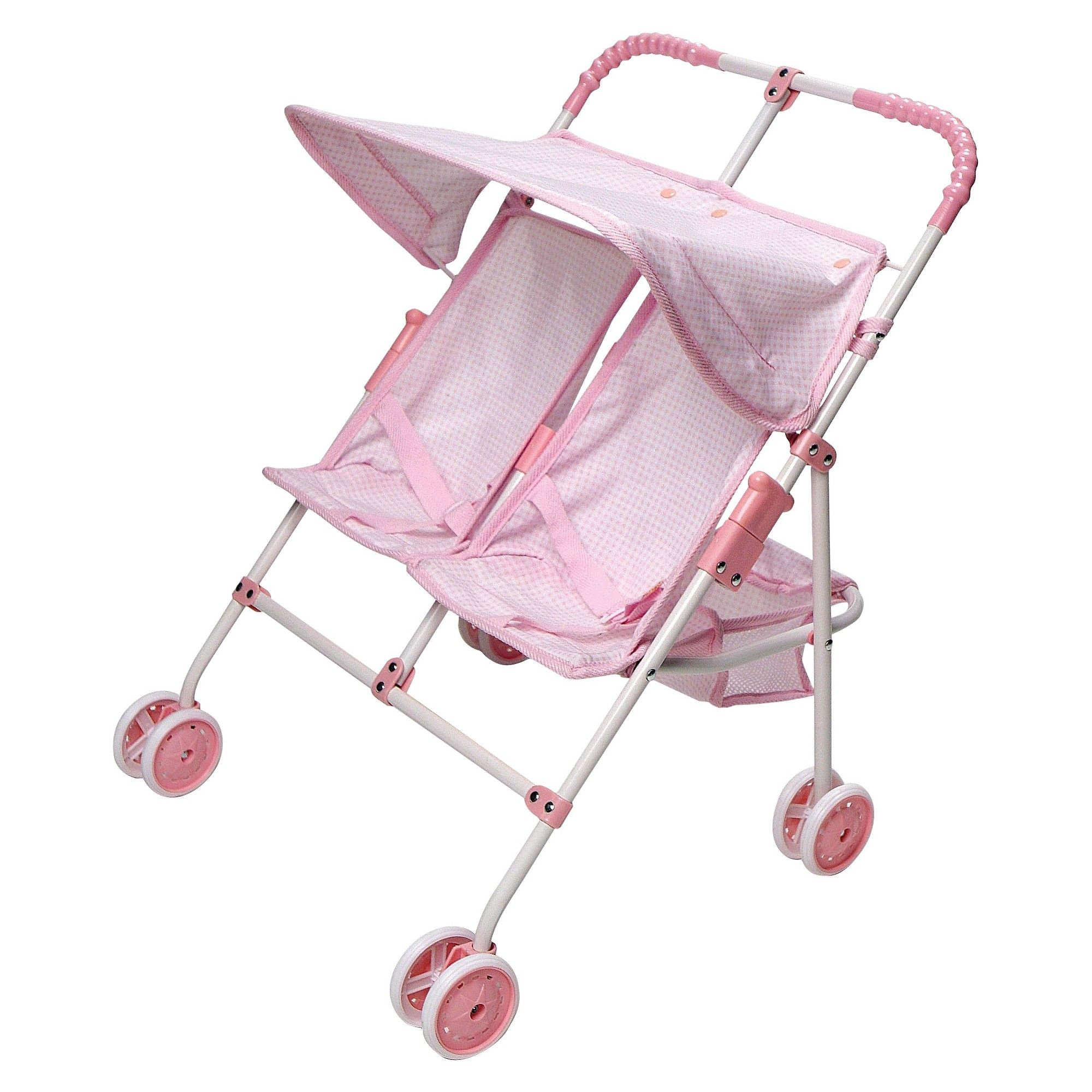 Badger Basket Double Doll SidebySide Umbrella Stroller