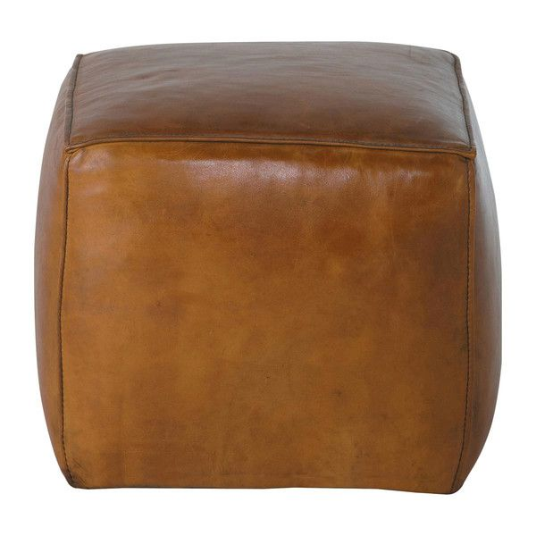 Awe Inspiring Light Brown Square Leather Ottoman Sam Home Leather Uwap Interior Chair Design Uwaporg