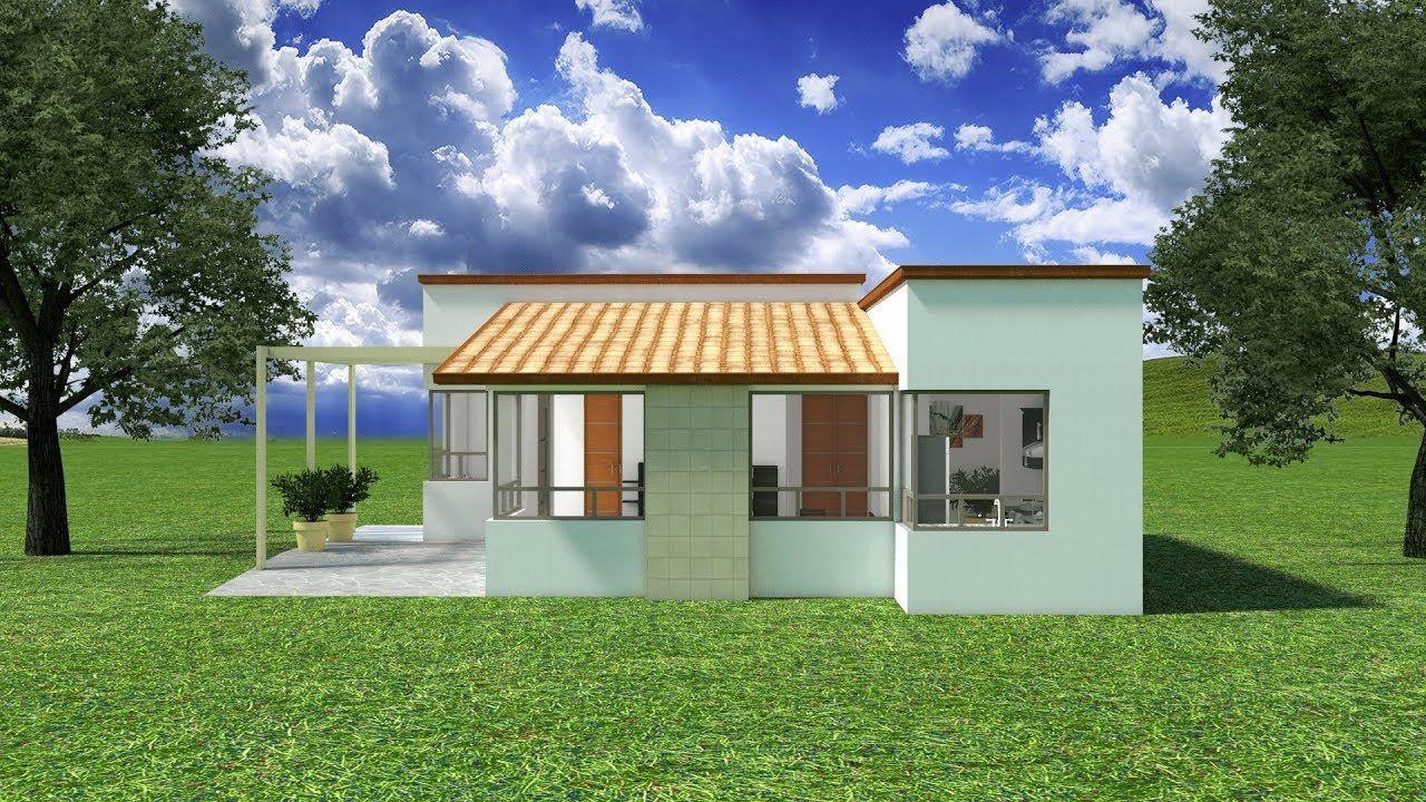 Dise os planos 3d casas 1 piso minimalista sketchup - Diseno de pisos ...