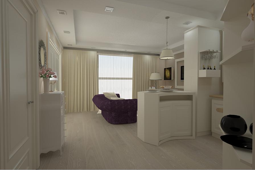 Design Interior Apartament Open Space Realizat In Stil New Clasic