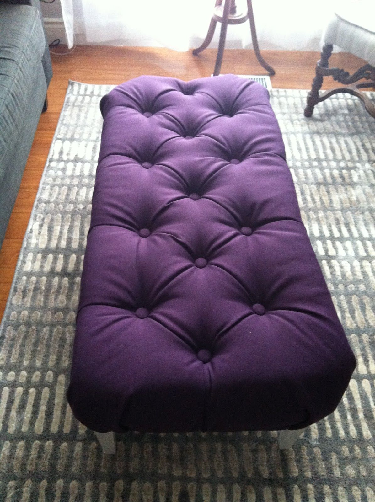 Amazing DIY Decor Ideas For Purple Lovers. Tufted OttomanDiy OttomanOttoman BenchCoffee  Table ...