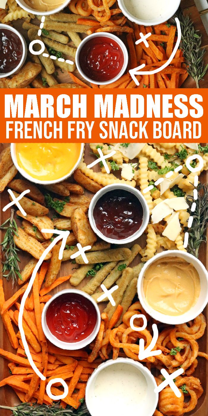 March Madness Snack Board! Easy French Fry Snack Board for