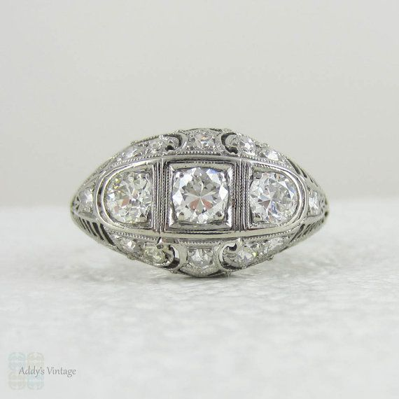 Your Place To Buy And Sell All Things Handmade Art Deco Diamond Rings Art Deco Jewelry Deco Jewelry