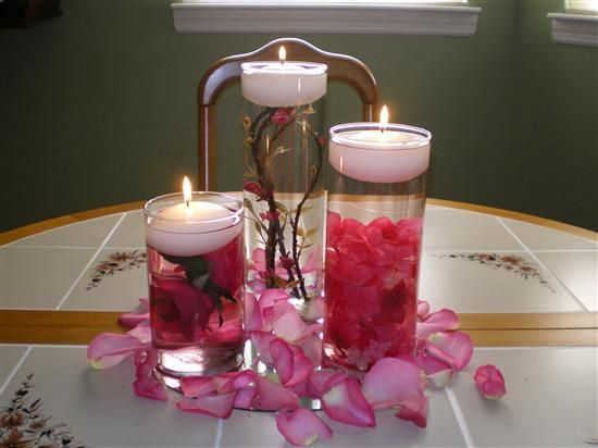 DIY Wedding Floating Candle