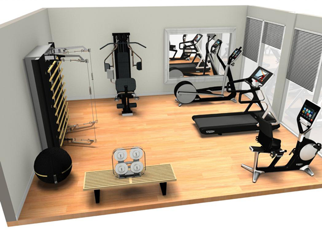 Wonderful Designing Home Gym Layout Part 29