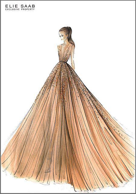 Resultat De Recherche D Images Pour Croquis Robe Haute Couture