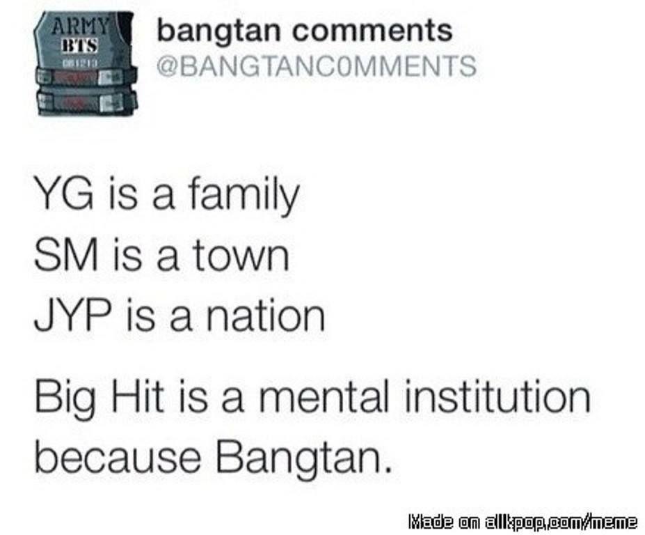 What Kpop Companies Are Bts Memes Kpop Memes Bts Funny