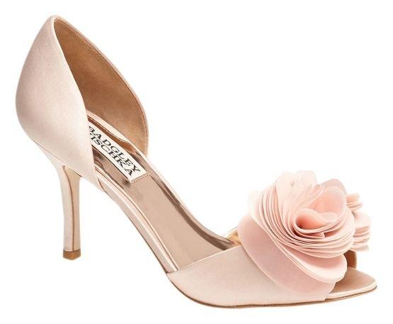 badgley mischka pink heels