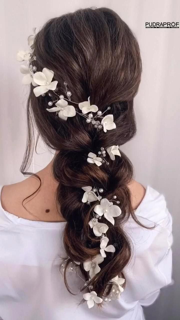 Bridal hair vine, Extra long hair vine, Wedding fl