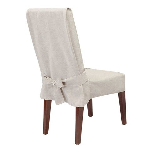 Farmhouse Basketweave Dining Room Chair Slipcover Slipcovers For Chairs Dining Room Chair Slipcovers Dining Room Chair Covers