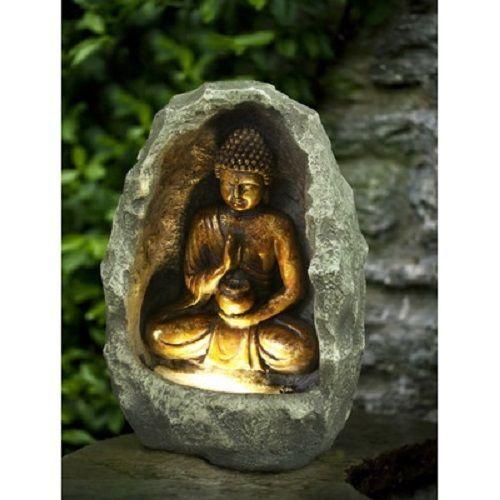 Indoor Outdoor Buddha Waterfall Lawn Yard Garden Fountain Mantle