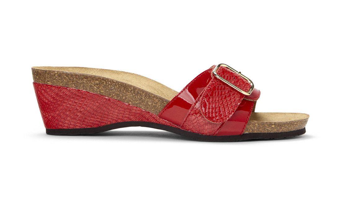 1277e50dae2 Vionic Ariana Women's Slide Wedge Sandals | Plantar Faciitis ...