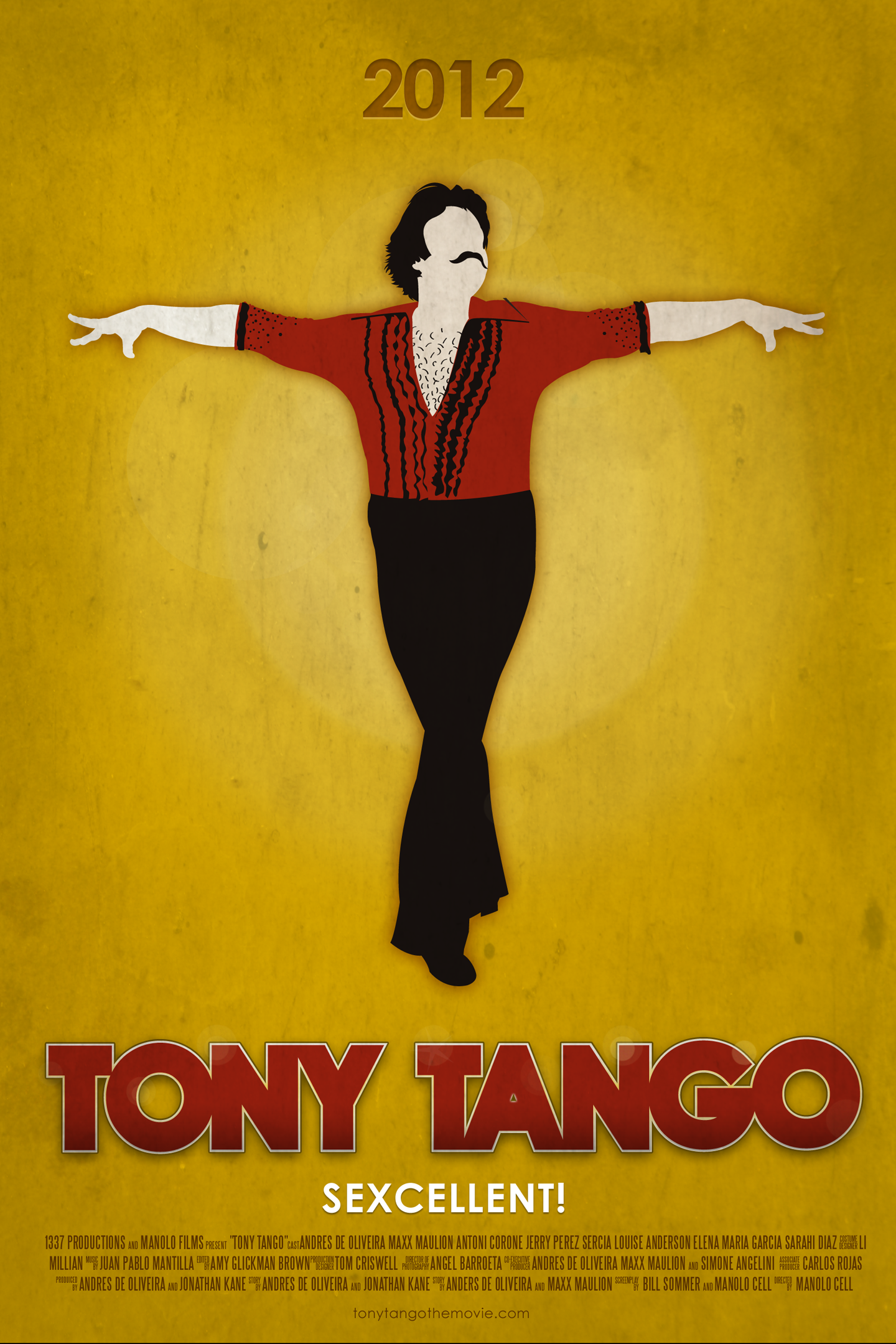 tony tango movie poster by derric character and mascot design