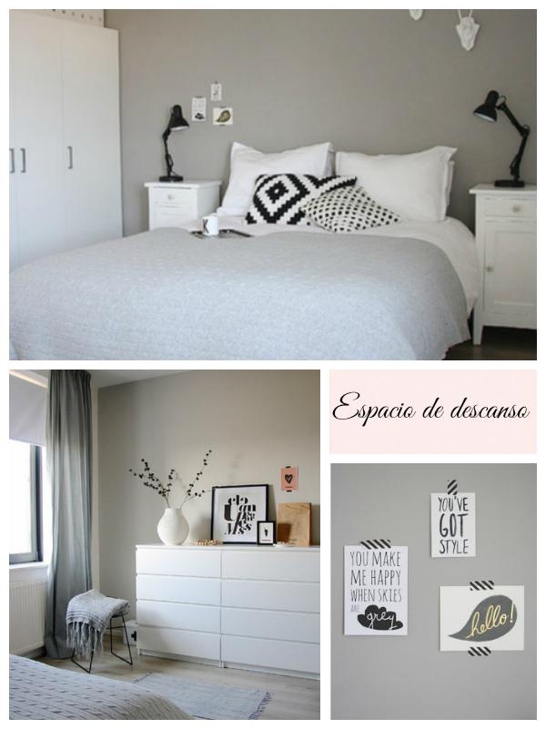 C mo aportar calidez a un espacio en blanco y gris la for Habitacion matrimonio estilo nordico