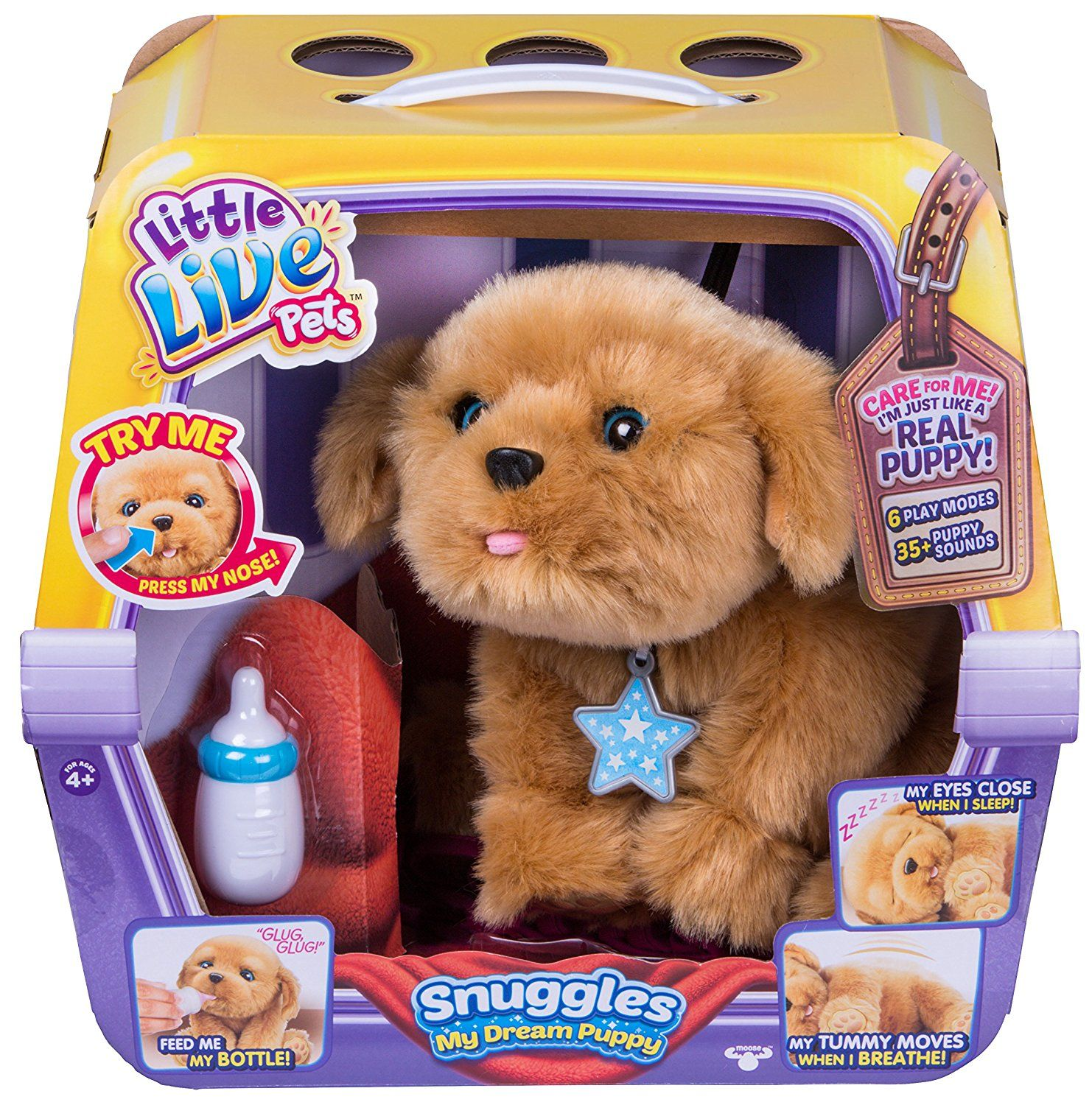 Little Live Pets Puppy My Dream Puppy Play Dog Snuggles Stuff Animal Plush New Little Live Pets Toy Puppies Pet Puppy