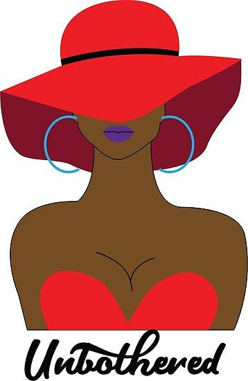 Unbothered Sexy Black Woman With Red Hat Poster
