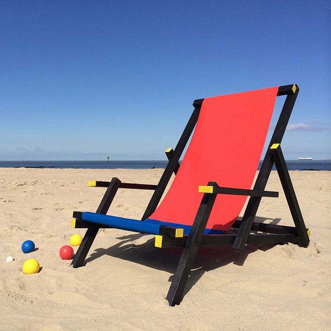 Para ser el rey de la playa necesitas esta tumbona inspirada en la
