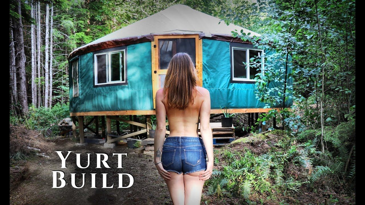 Building An OFF GRID YURT In The FOREST