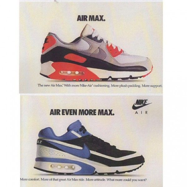 uk availability 84754 9a29d Nike Air Max III (90)  Air Max IV (Air Classic BW)
