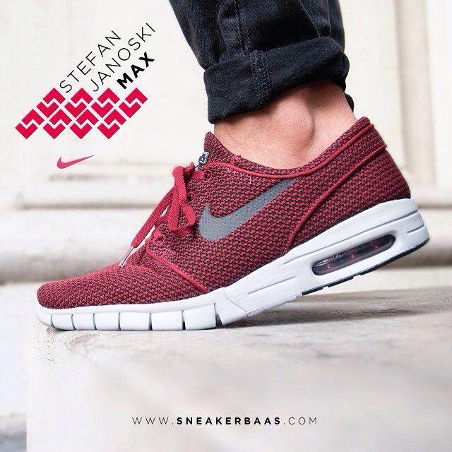 wholesale dealer 8bfa3 0ca0b stefanjanoski  nike sneakerbaas baasbovenbaas Nike Stefan Janoski Max  team Red- A clean, winered design combined with a slick grey swoosh  makes it ...