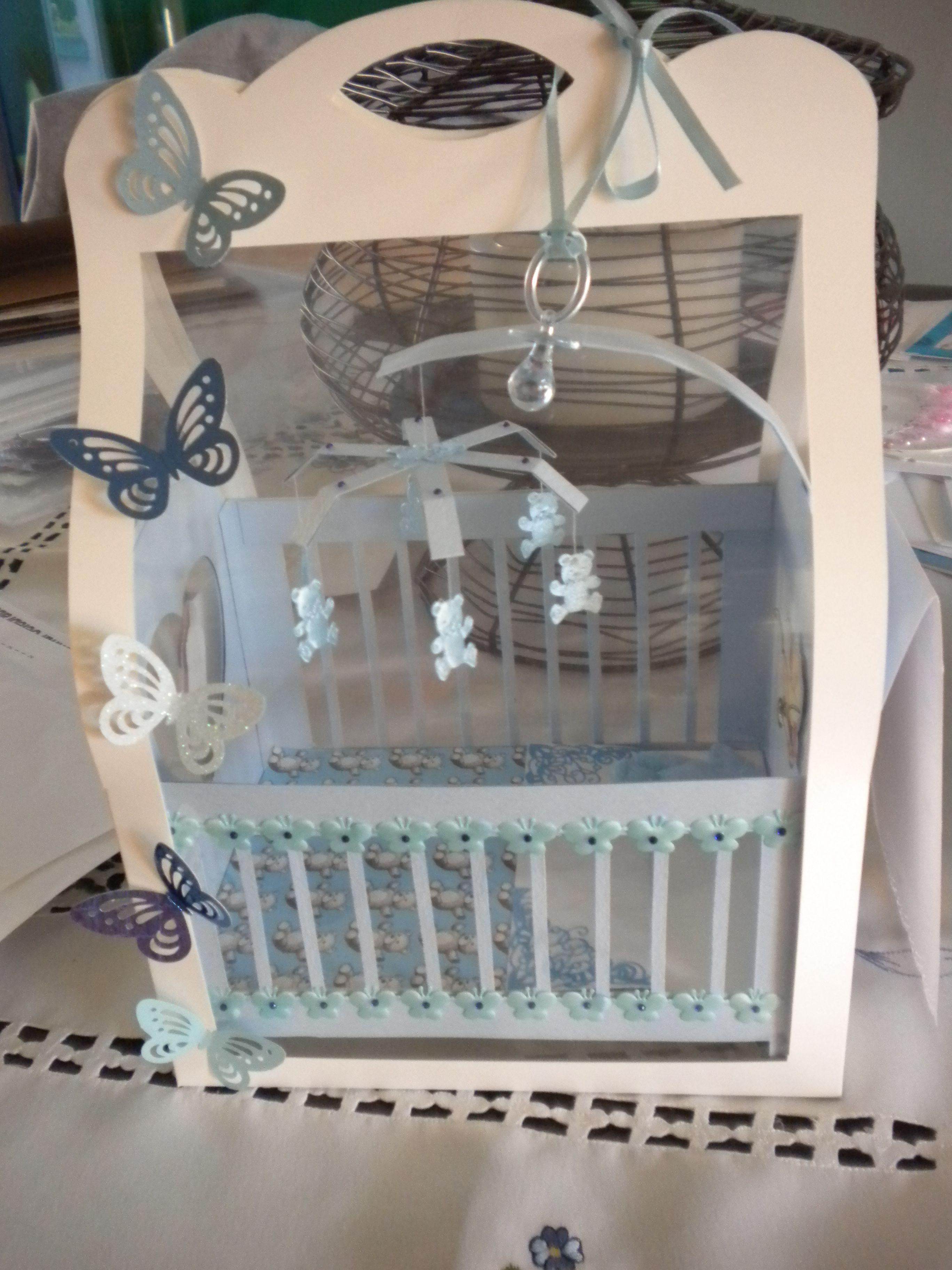 Handmade 3 D Birth card