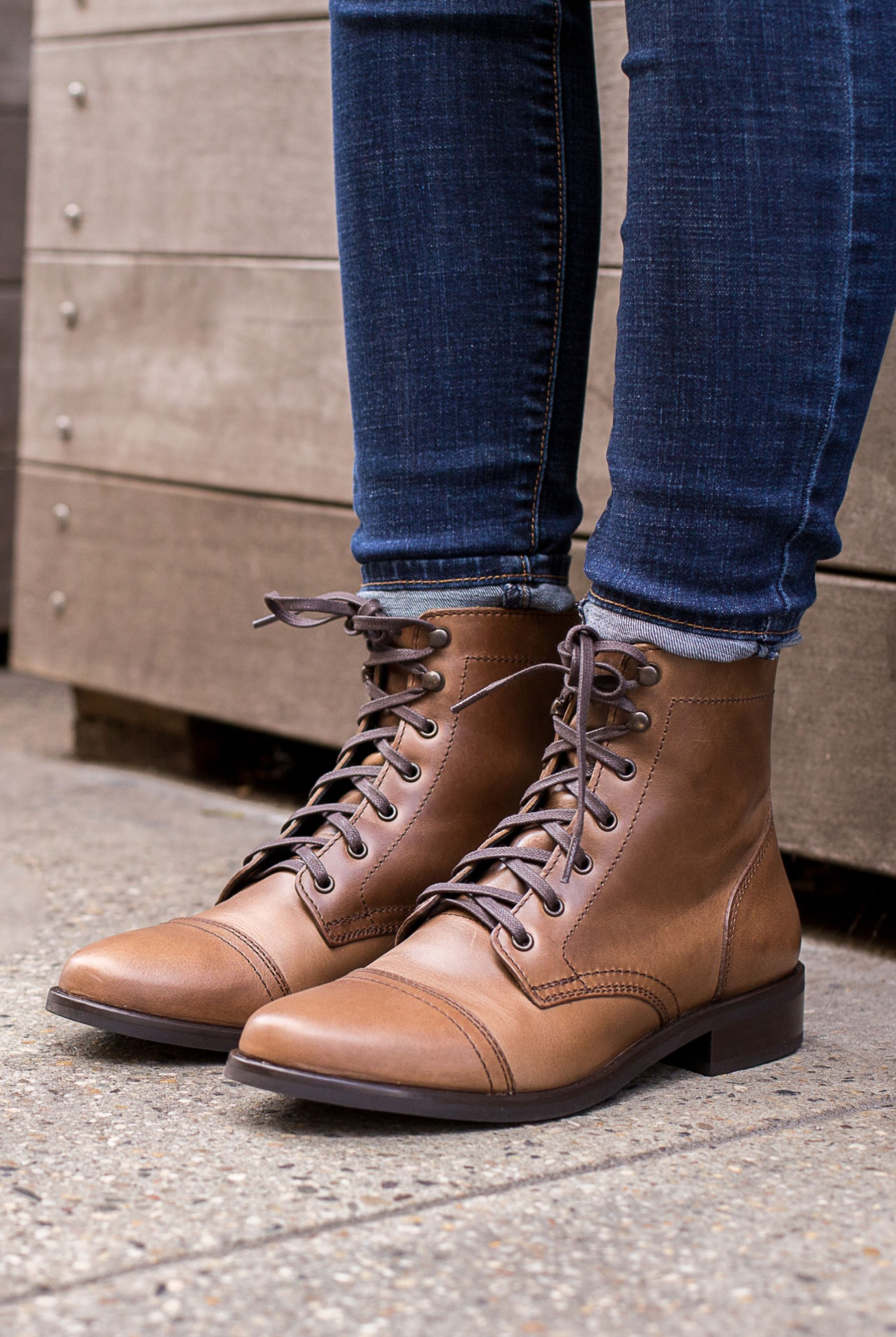 fe7ebae330e Shop the Women's Natural Captain Lace-Up Boot at Thursday Boot Company.  Available in 4+ Colors. 4,500+ 5-Star Reviews · Easy & Secure Checkout ·  Free ...