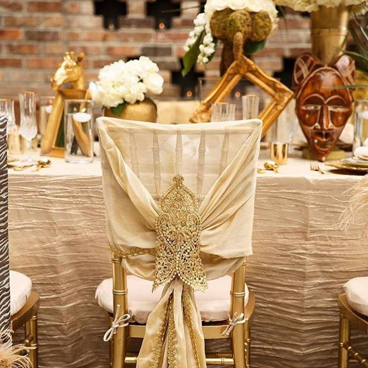 Beautiful Table And Chair Covers For An African Themed Wedding ~ Wildflower  Linen