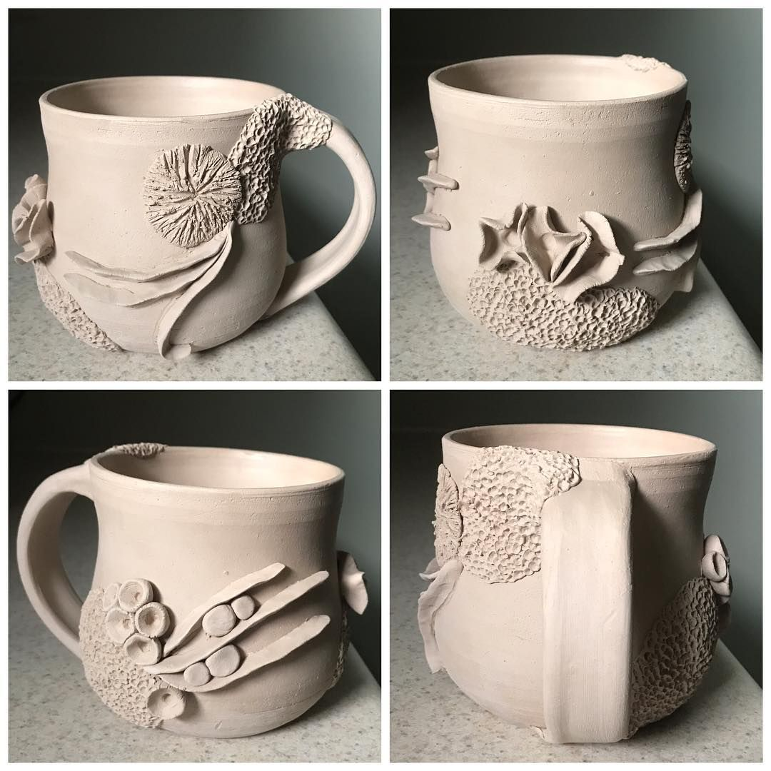 Might have gone a little overboard on this guy...oh well! Happy #mugshotmonday  . . #wip #muglife #makersgottamake #pnw #pnwpotter #highfire #handmade #homestudio #summerofpracticing #practicepracticepractice #nokilnnoproblem #pottery #handmadepottery #wheelthrown #wheelthrownpottery #ceramics #greenware #greenwareceramics #coolmugs