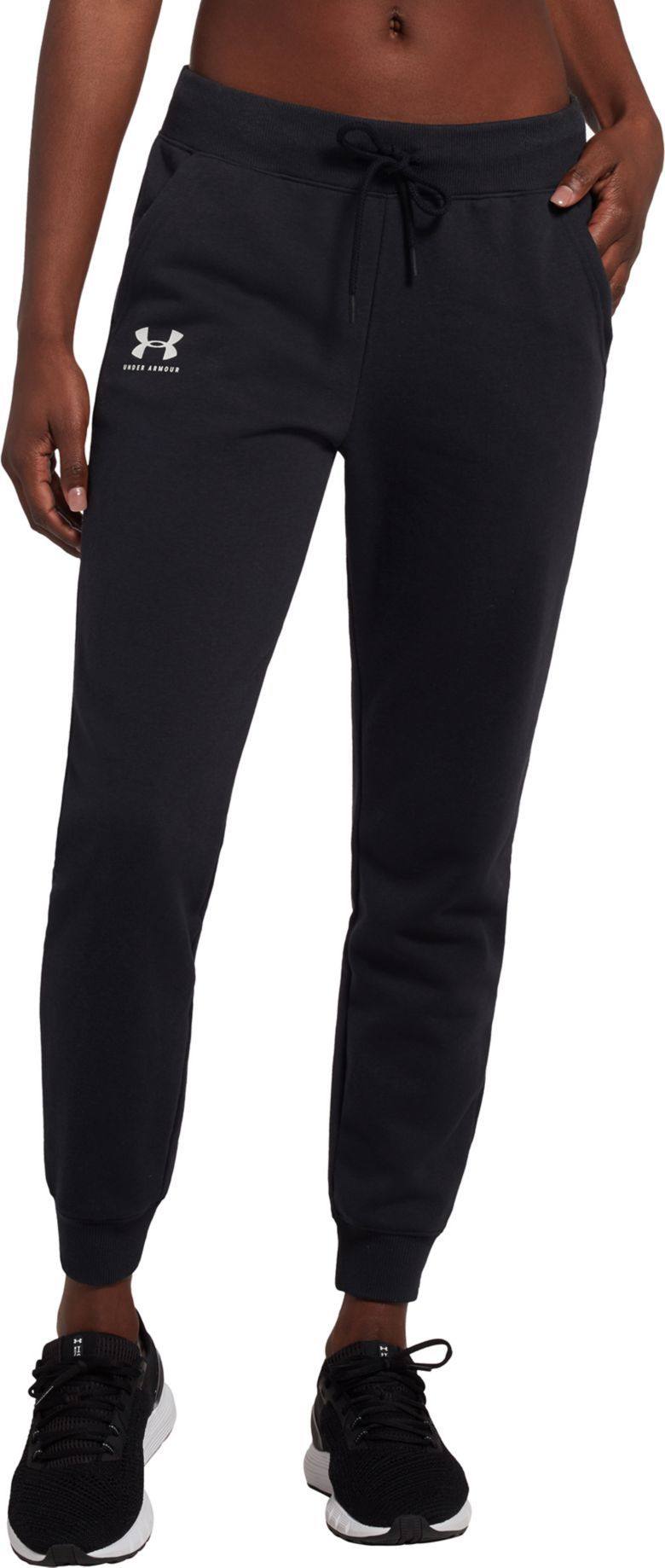 Women/'s Under Armour Graphic Fleece Jog Pants in Black