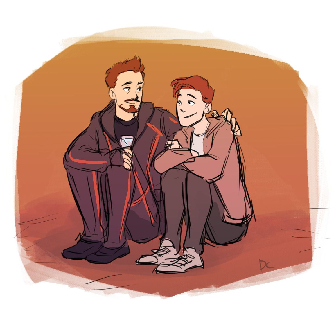 Avengers Infinity War Tony Stark Father Peter Parker Son