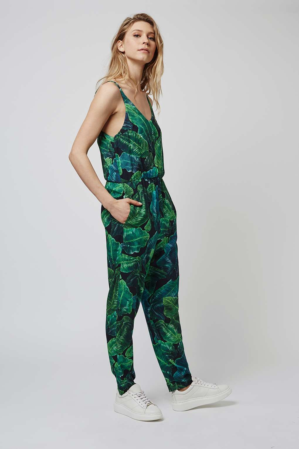 a20307bb7b8 TALL Palm Print Jumpsuit - Topshop