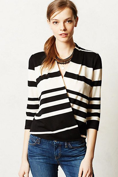 Anthropologie Chamonix Top Size XL, Black & Ivory Striped Blouse By Deletta #Deletta #KnitTop #Casual