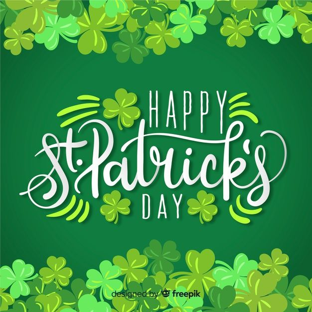 Lettering st patricks day Free Vector  Free Vector