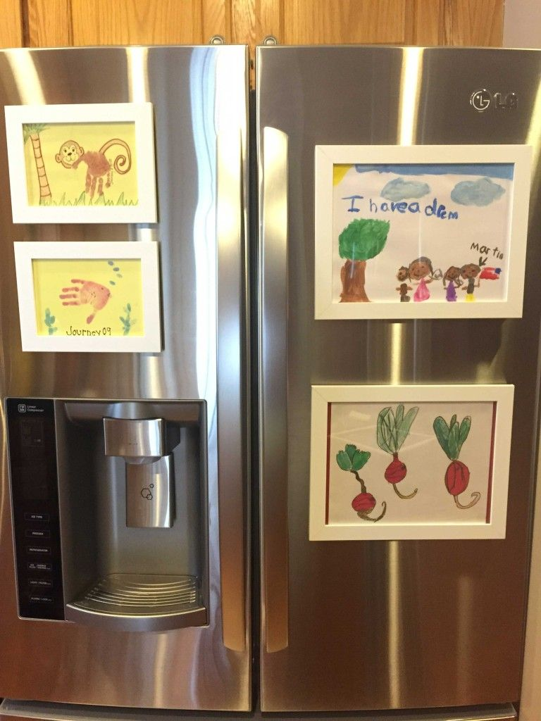 refrigerator-art-frames-display-kids-art | Cool ideas | Pinterest ...