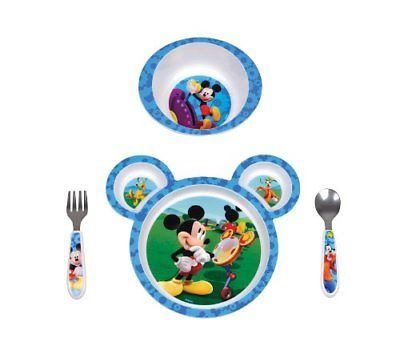 The First Years Disney Baby Mickey Mouse 4-Piece Feeding Set New  sc 1 st  Pinterest & The First Years Disney Baby Mickey Mouse 4-Piece Feeding Set New ...