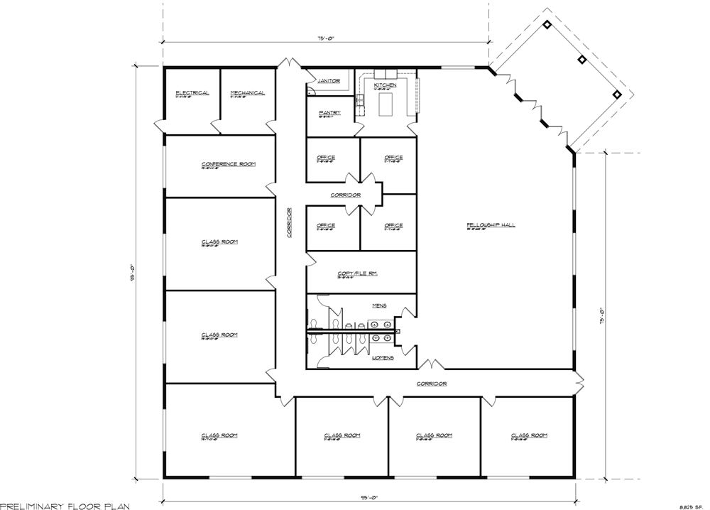 Church buildings designed for your congregation church for Metal blueprints