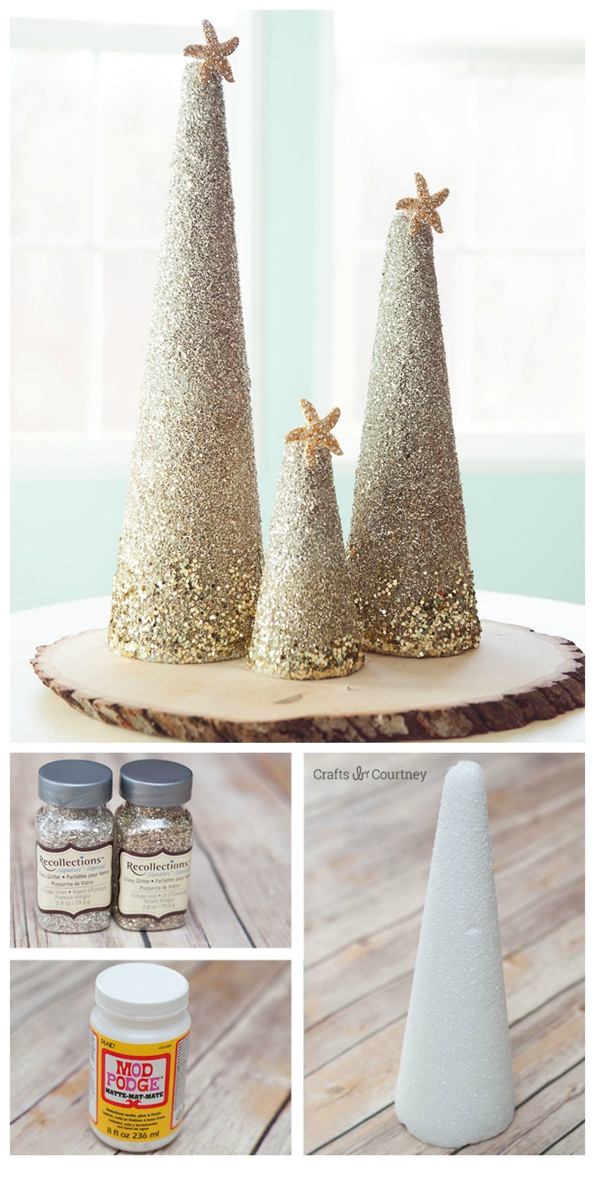Create A Sophisticated Coastal Foam Christmas Tree For Your Christmas