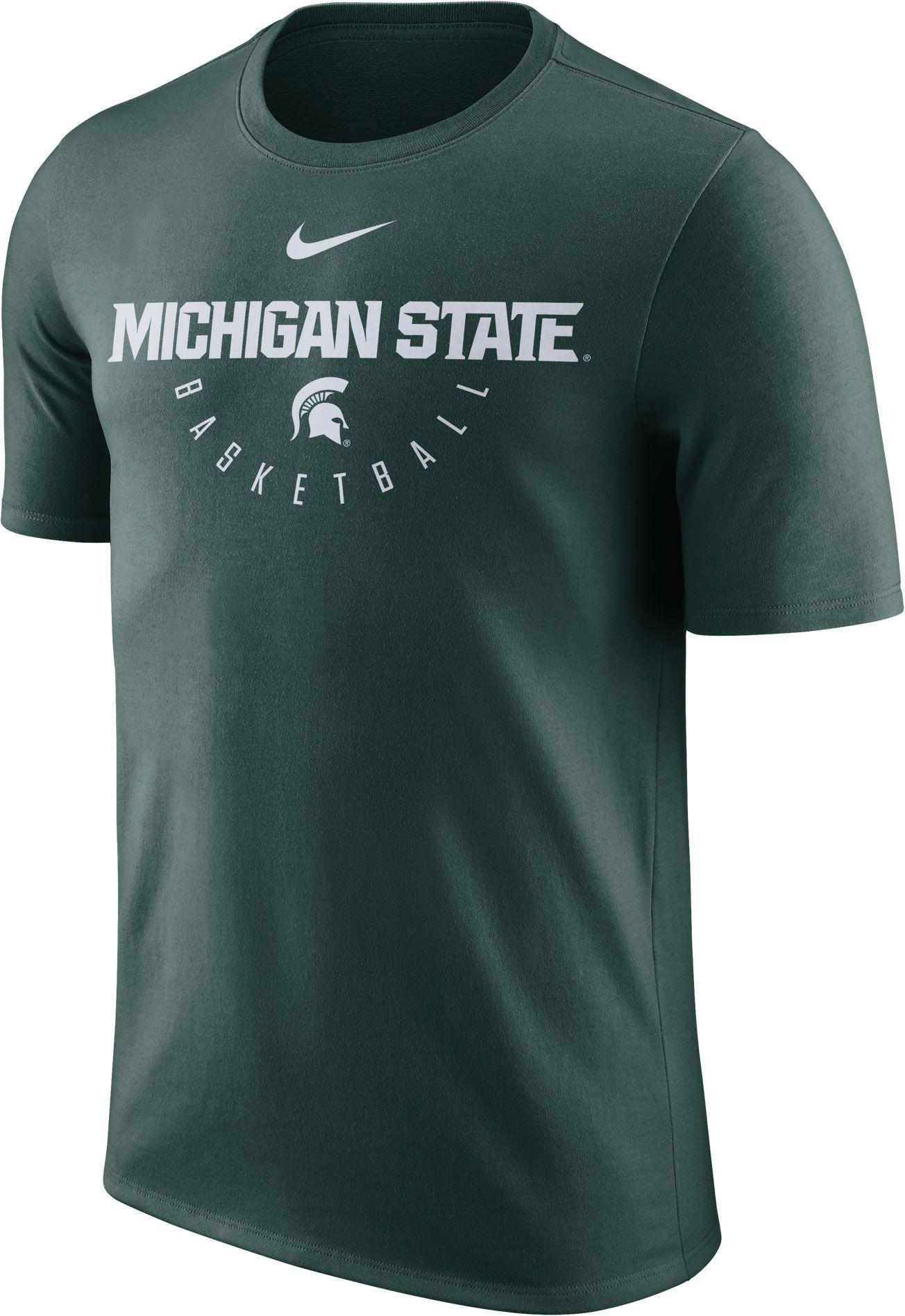 new products d483a 6debb Nike Men s Michigan State Spartans Green Key Basketball Legend T-Shirt,  Size  Medium