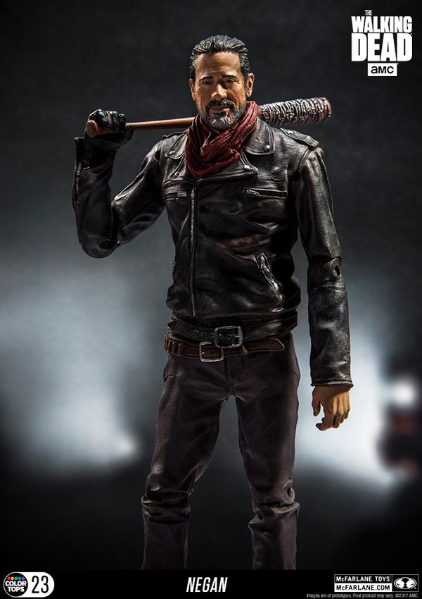 "New Walking Dead AMC TV Series 7"" Color Tops Negan Figure Images From McFarlane Toys"