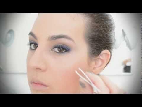 Make de festa com delineado azul - TV Beauté | Vic Ceridono - YouTube