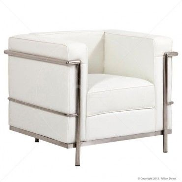 Le Corbusier Arm Chair White Buy White Arm Chair White Leather Sofa Milan Direct Chair White Leather Sofas Blue Dining Room Chairs