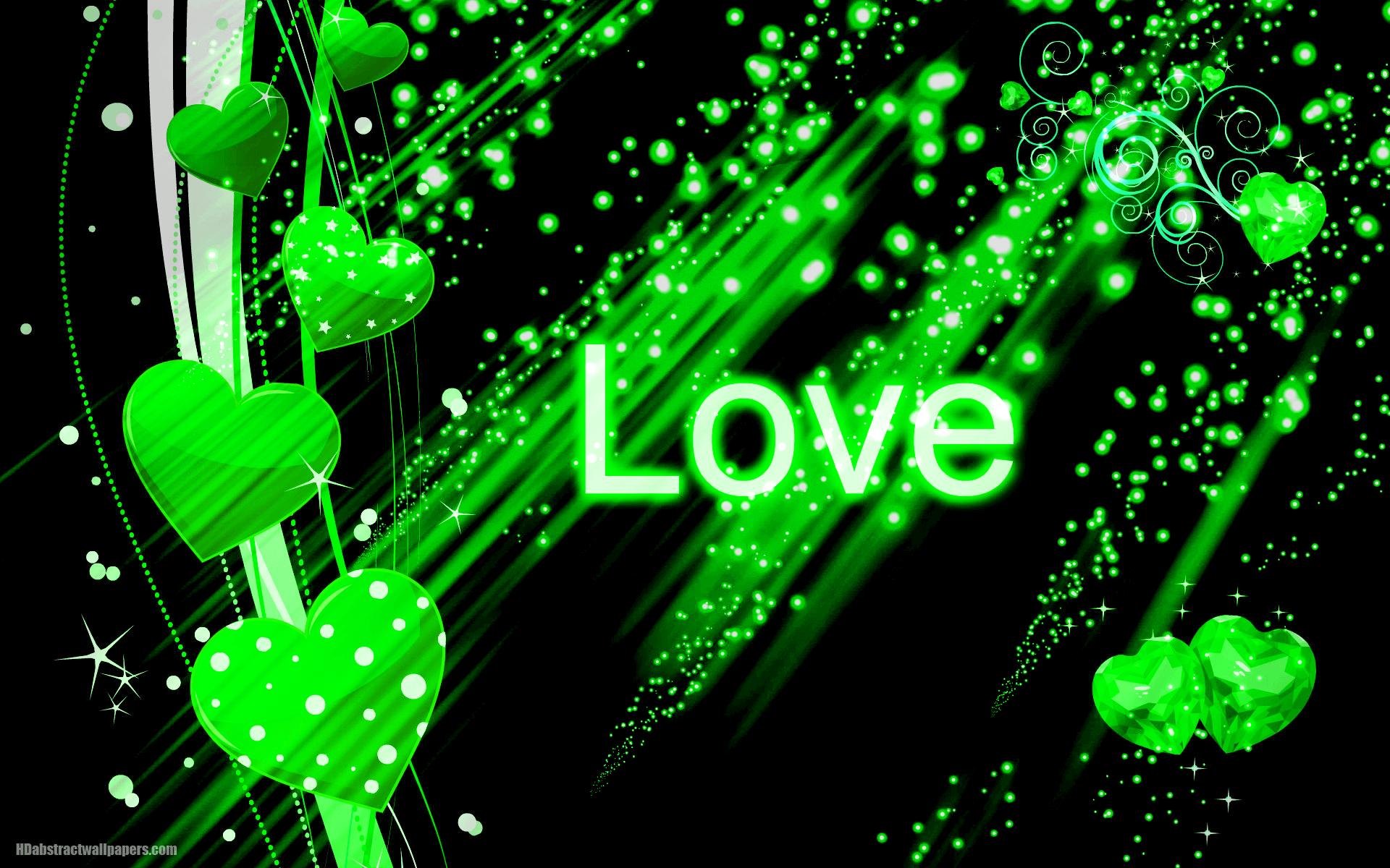 Amazing Wallpaper Green Heart