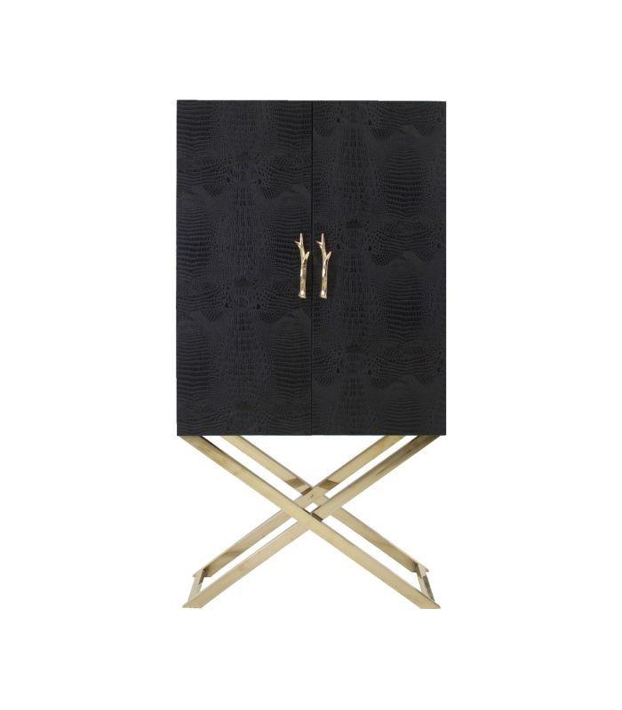 Armario negro con patas doradas. | Armarios y alacenas | Pinterest ...