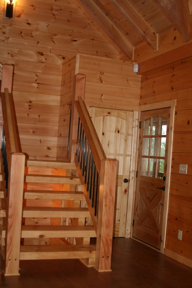 White Pine Treads And Stringer And Douglas Fir