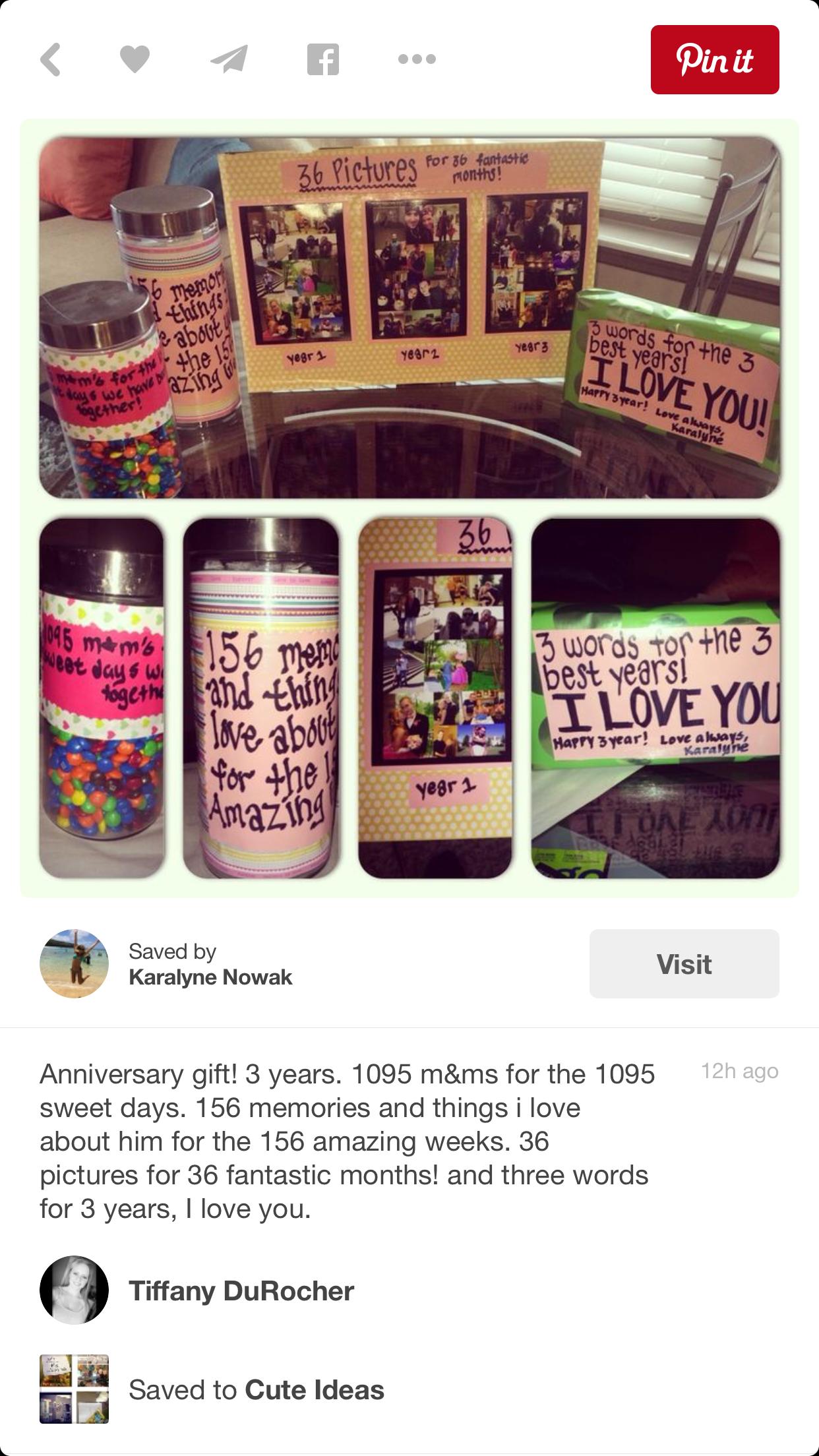 Qveenparĸ 3rd Year Anniversary Gifts Boyfriend Gifts Year Anniversary Gifts
